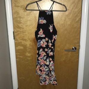Black floral tank from Express
